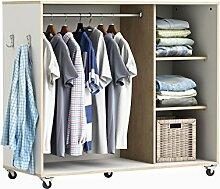 habeig Kleiderschrank auf Rollen #7126 Weiß