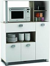 habeig Küchenschrank 146 weiß Küchenregal