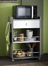 habeig Küchenwagen Basalt #480 mit Weiss
