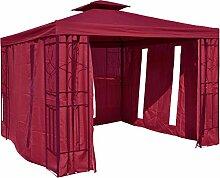 habeig Pavillon Seitenteile Bordeaux mit Fenster &