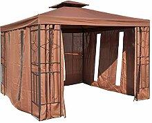 habeig Pavillon Seitenteile BRAUN mit Fenster &