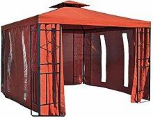 habeig Pavillon Seitenteile Terrakotta mit Fenster