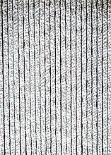 habeig Türvorhang Flauschvorhang Flauschi Chenille Insektenschutz uni-farben (grau/weiss, 100 x 230 cm)