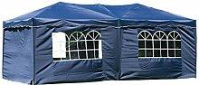 habeig® Wasserdichter Faltpavillon 3x6m Taupe