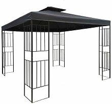 habeig WASSERDICHTER Pavillon Borneo 3x3m Metall