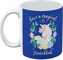 Haben Sie eine magische Chanukka Einhorn aller Kaffee-Haferl Standard One Size weiß
