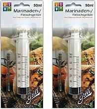 HAC24 2X Fleischspritze 50 ml | Marinadenspritze