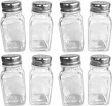 HAC24 8er Set Glas-Gewürzstreuer Mit