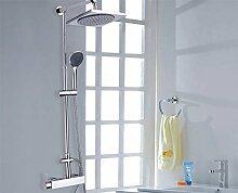 HAC24 Design Dusch-Set: Duscharmatur | Duschkopf | Handbrause Duschpaneel Dusche Neu