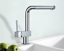 HAC24 Designer Küchen Armatur Mit Schlauch-Brause | Messing Verchromt Neu