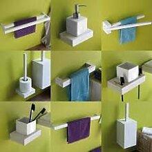 Haceka 5 tlg. Badezimmer SET 3, FSC, Holz, Weiß