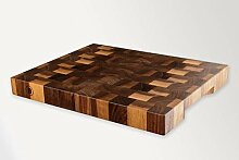 Hackblock aus Holz, Stirnholz aus massivem