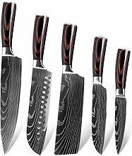 Hackmesser Damaskus Muster Küchenmesser Set