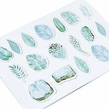 Hacoly 45pcs Kinder Sticker Bomb Palmblatt Pflanze