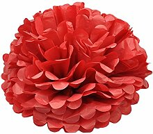 Hacoly 5er Papier Blume Ball Schaumblume Party