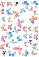Hacoly Aufkleber Kinder Schmetterling Beschreibbar