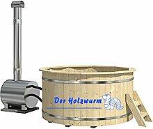 haebelholz Badebottich Ø 180 cm mit Außenofen