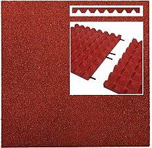 haebelholz Fallschutzmatte Rot + Steckverbinder