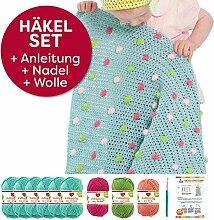 häkeln für baby: Myboshi Häkel-Set Babydecke