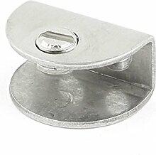 Hälfte rund Design Edelstahl Clip Clamp für 6–9mm Glas