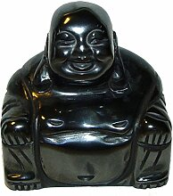 Hämatit Buddha aus echtem Edelstein Happy Buddha