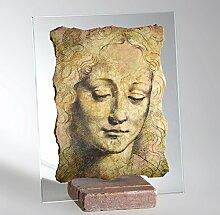 Hände Geschenk/Leonardo da Vinci/Leonardo da Vinci Zeichnungen/Kopf Frauen/Dekoration/Geschenke/Geschenkideen/Kunst/Artikel Marmor/Gegenstände Möbel/Handwerk/Designer/Made in Italy