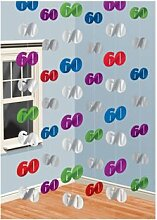 Hänge Dekoration 60.Geburtstag Girlanden Jubileum Party