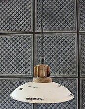 Hänge Lampe Ø 48 cm Alte Industrielampe Emaille Loftlampe