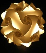 """Hänge Lampe Kugellampe """" Salzburg """" Durchmesser 55 cm, inkl. Energiesparlampe in weiß"""