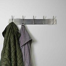 Hängegarderobe mit 5 Kleiderhaken Edelstahl