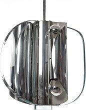 Hängelampe aus Glas & Chrom, 1960er