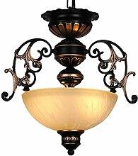 Hängelampe Flurlampe Esstisch Vintage Design Rund