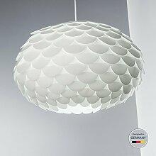 Hängelampe I Federlampe I Puzzle-Lampe I Schlafzimmer-Lampe I Weiß I Decken-Leuchte I Wohnzimmer-Lampe I Kunststoff I Couchtisch-Lampe I Esstisch-Lampe I Pendel-Lampe I Design I E27 I 60 W I IP20