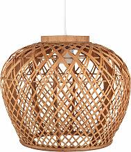 Hängeleuchte aus perforiertem Bambus