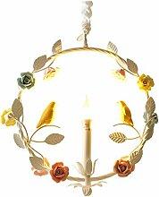 Hängeleuchte Garland Blume Eisen Keramik und