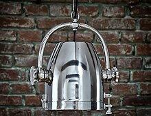 Hängeleuchte Industriedesign Lampe Leuchte chrom