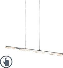 Hängeleuchte Stahl mit Glasplatte inkl. LED mit