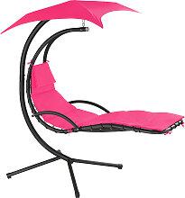 Hängeliege Kasia mit Sonnendach - pink