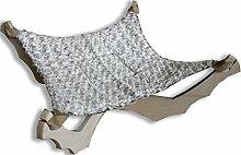 Hängematte Nickerchen Dekor Rosen–Schlafkabine Anhänger aus Birke mit Hängematte aus Webpelz pu cm. 58x 58H.30