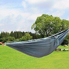 Hängematte, Parachute cloth hammock, Antye® Tragbaren Nylon Gewebe Reisen Camping Hängematte, Hochfester Nylon Hängematte für Camping, Reisen, Wandern, usw. (Grau)