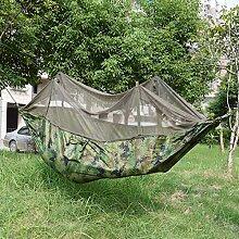Hängematte, Parachute cloth hammock, Antye® Tragbaren Nylon Gewebe Reisen Camping Hängematte Mit Moskitonetzen, Hochfester Nylon Hängematte (die Farbe der Tarnung)