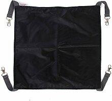 Hängematte wendbar Bett aufgehoben Matratze-Käfig für Katzen (schwarz, S)