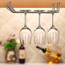 Hängen Küche Regal Edelstahl Glashalter Gläserregal Weinglas Halter Organizer Silber - 8.58x6.14