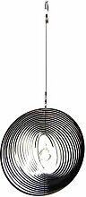 Hängende Edelstahl Garten Wind Spinner Kristall Sonnenfänger - Große runde