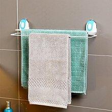 Hängende Handtuchhalter Kostenlose punch freien Nagel Badezimmer Badezimmer Handtuchhalter starker Saugkraft zweipolige Wandregale