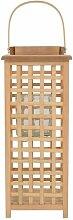 Hängende Holzlaterne Sansibar Home Größe: 49cm