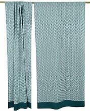 Hängende Trennwand Tür-Fenster-Baumwolle gedruckt Vorhang HauptDécor Satz von 2 Stück
