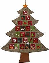 Hängende Weihnachts Adventskalender, Xmas Tree