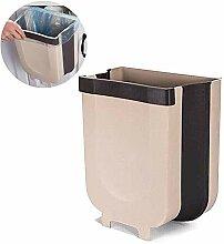 Hängender Abfallbehälter gefaltet, trocken und