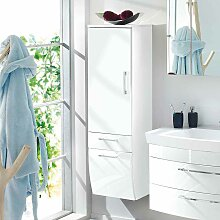 Hängender Badschrank in Hochglanz Weiß 40 cm